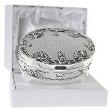 Goddaughter Christening, Birthday, Xmas Gift Engraved Silver Plated Trinket Box