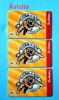 3 Tim Hortons CANADA 2019 CFL - TIGER CATS Gift Card New MINT