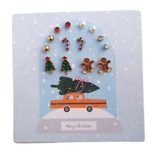 Avon Hollis Christmas Earring Set 7 Pairs with Christmas Designs