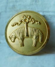 18mm Vintage collectible brass picture button~Brooks brothers~LAMB in a Bow