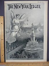 Rare Antique Orig VTG 1895 New York Ledger Decoration Day Cover Only Art Print