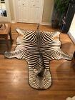 Beautiful Authentic Zebra Skin Large Rug! 10 feet 2 inches X 6 feet 10 inches