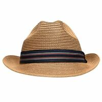 Mens Ted Baker Elite StrawTrilb Straw Hat New