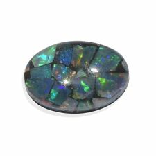 AUSTRALIAN GENUINE MOSAIC OPAL 7 X 5 OVAL TCW .54 LOOSE GEMSTONE PERFECT FOR SET