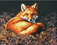 "Dimensions Counted Cross Stitch Kit 14"" x 11"" ~ SUNLIT FOX #70-35318 Sale"