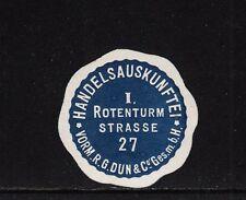 403467/ Siegelmarke - Handelsauskunftei - Rotenturm Strasse 27