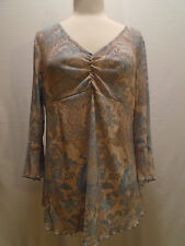 MOTHER HOOD FLORAL SHEAR 3/4 SLEEVE TOP SIZE LARGE