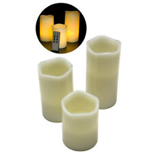 "Flameless Flickering LED Candle with Remote Combo 3-Pack with 4"" 5"" 6"""