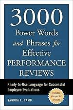 3000 Power Words and Phrases for Effective Performance Reviews: Ready-to-Use Lan