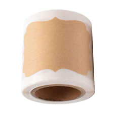 300x Blank Kraft Paper Stickers Package Label Seals Removable Freezer Labels