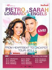 PIETRO LOMBARDI & SARAH ENGELS - Promo Flyer Neu Postkartengröße
