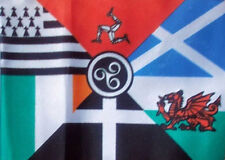 CELTIC NATIONS FLAG 5' x 3' Cornwall Isle of Man Brittany Scotland Wales Ireland