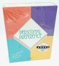 Personal Preference 1987 Board Game Broderbund Games NEW Sealed