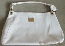 New Loren Taylor Immi White Leather Shoulder Tote Bag Handbag Limited Edition