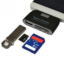 Lettore OTG type-C 3.1 USB-C schede memoria SD microSD USB-A per smartphone CRK5