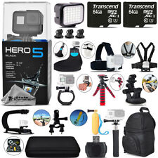 GoPro Hero 5 Black 4K Ultra HD Action Camera CHDHX-501 Mega Loaded Bundle Kit