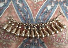 Vintage 1980s RLM Studio for Donna Karan 24K Gold Plate Tear Drop Charm Bracelet