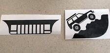 XJ  Cherokee Jeep Windshield Decals Sticker