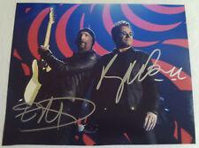 Bono & The Edge Autographed 8x10 Hand Signed Photograph Rock Band U2 Autograph