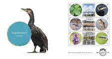 Nederland 2015 Naardermeer planten vogels dieren             fdc 712 a en b