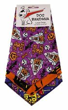 Dog Bandana Tie on Triangle Halloween for Large Dog Fit Neck up to 24'' -3 Pack