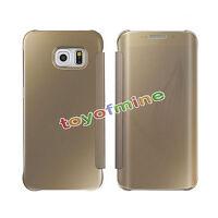 Cubierta de cuero Espejo Clear View Delgado para Samsung Galaxy S6 / S6 Edge