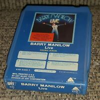 Barry Manilow LIVE 8-track Tape DOUBLE ALBUM cartridge LATE NITE BARGAIN vtg
