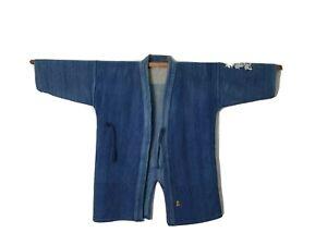 Vintage Indigo Kendo Jyudo gi Jacket uniform M Japanese Sashiko Boro Kapital 45r