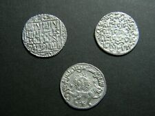 Seljuq Dynasty (3) Silver Seljuk Sultanate of Rum Dirham coin lot  (0763)