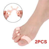 1 Pair Toe Separator Orthopedic Bunion Corrector Pain Relief Hallux Valgus ~