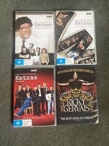 EXTRAS with RICKY GERVAIS, Series 1, 2 & The Special  + Stand Up Special