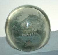 VINTAGE HAND PAINTED GLASS PAPERWEIGHT SIGNED BYA 1995
