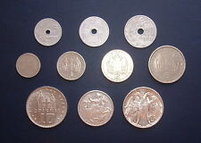 VERY RARE!!! FULL SET OF 10 COINS - GREEK DRACHMAS 1954 KING PAVLOS ( 2 SILVER)