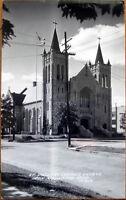 1940 Realphoto Postcard: St. Joseph's Catholic Church-Iron Mountain, Michigan MI