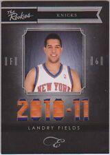 Landry Fields 10-11 Panini Elite Black Box Patch The Rookies Material Prime NYK