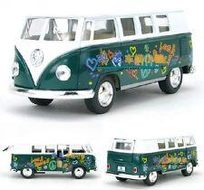 Kinsmart 1:32 1/32 1962 Volkswagen VW Paint Classic Bus Diecast model Car Green
