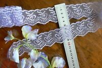 Organza Embroidered LaceEdge LAVENDER 40mmWide 4.5 MetreLength Sunrise ft23 FLT1
