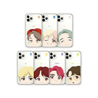 [NULUK] BTS - Motion Face Clear Soft Phone Case for iPhone