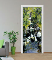 3D Creek stone Door Wall Mural Photo Wall Sticker Decal Wall AJ WALLPAPER US