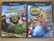 Crash Nitro Kart (Nintendo GameCube and Wii, 2003) & Shrek Smash n' crash racing