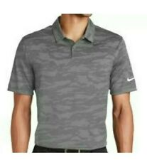 Nike Golf Dry Dri-Fit Mens Polo Shirt Camo Dark Gray XL AA1852-010 NWT