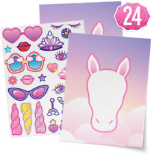 xo, Fetti Unicorn Party Sticker Craft Game for Kids - 24 Sheets   Birthday Party