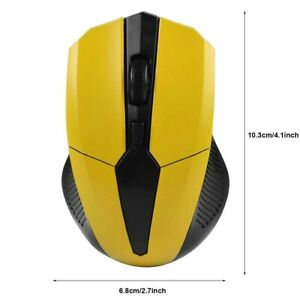 2.4Ghz Wireless Mouse Adjustable 1200DPI Optical Gaming Office Game PC Laptop