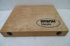 WOODEN STORAGE BOX TAKEN FROM AN IRWIN MARPLES M373 8PCE CHISEL SET