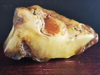 Egg Yolk Baltic Amber Stone 268g Butterscotch 琥珀珠 古琥珀 Health Roh Bernstein Raw