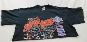 Nutmeg Super Bowl XXVI Redskins Bills 1992 Vtg T Shirt Mens Sz XL Single Stitch