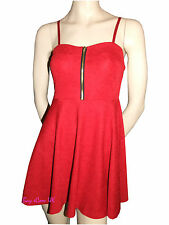 Ladies Red Strappy Dress Party Casual Wear Tops Dress Clearance Item Size 12