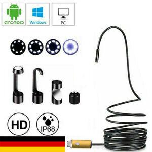 10M Endoskop Wasserdicht USB Inspektion Kamera Rohrkamera Für PC Android