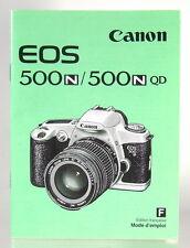 Canon EOS 500N/500NQD Mode d'emploi french manual Anleitung - (0946)