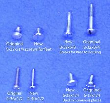 Western Electric 302 Telephone New Replacement Screws - Set of slotted screws